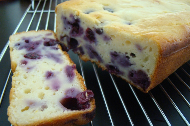 Blueberry Vanilla Rice Cake