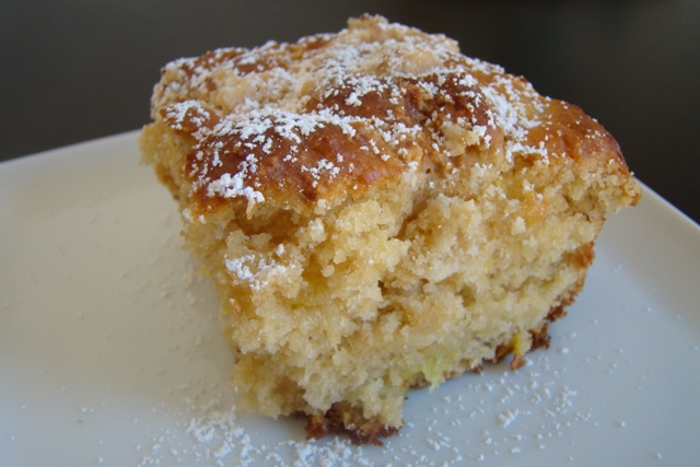 Pineapple Yogurt Coffee Cake with Coconut Crumb Topping | Rice Kernel