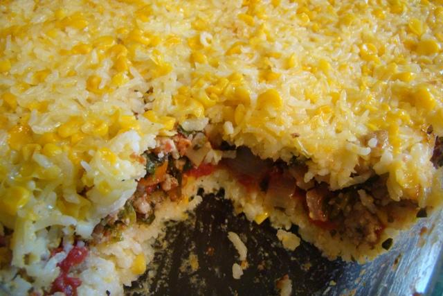Yucatan Pastel de Lujo or Chilean Pastel de Choclo | Rice Kernel